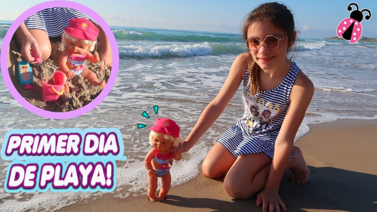 PRIMER DÍA DE PLAYA DE MI BEBÉ Nenuco 🌊 Misterio en la playa