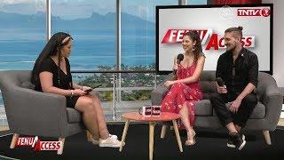 Gisela Vidal and Ariel Yanovsky on TV (Tahiti - French Polynesia)