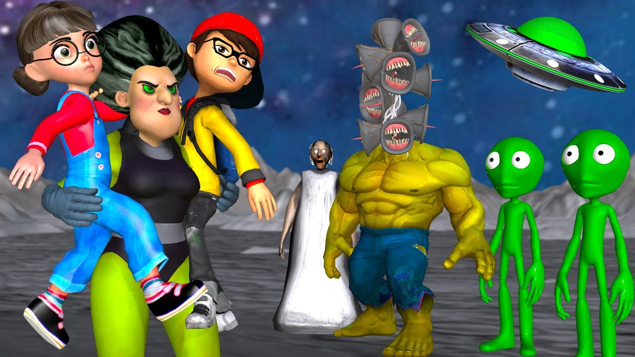 Scary Teacher 3D Miss T Hulk Rescue Nick and Tani at the Siren Head Mods Hulk's Planet