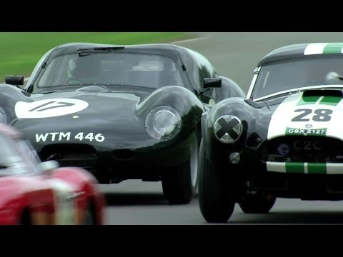 The Goodwood Revival RAC TT 2013, in a Lister Jaguar Coupe. -- /CHRIS HARRIS ON CARS