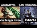 [ Adrian Riven ] Riven vs Diana  [ ETW marksman ] Top - new account For Challenger EUW