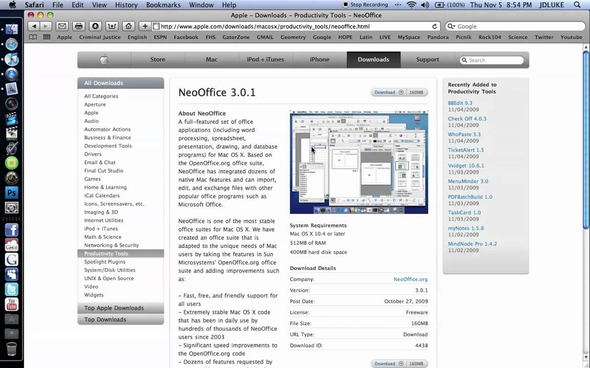 How To Get A Free Word Processor For Mac - NeoOffice - YouTube