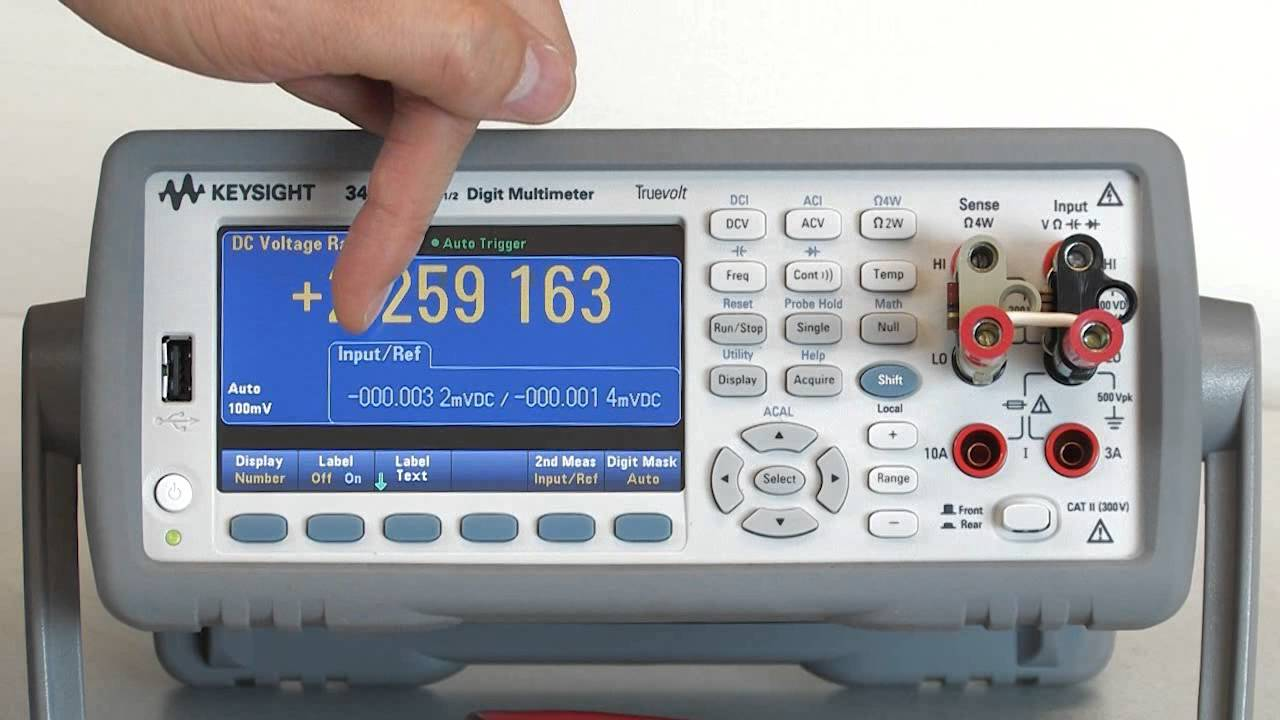 Agilent multimeter measure current