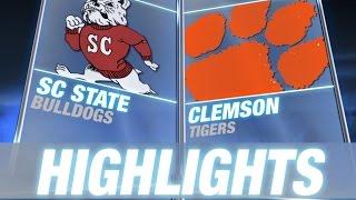 South Carolina State vs Clemson   2014 ACC Football Highlights