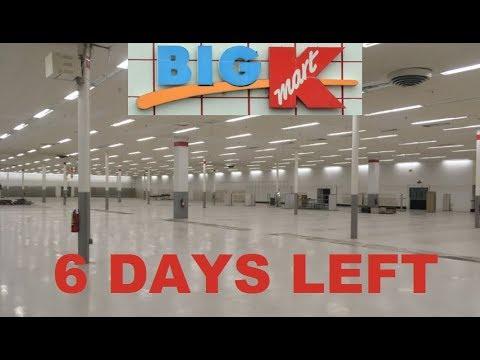 BIG KMART CLOSING 6 DAYS LEFT HAZLETON PA DEAD STORE