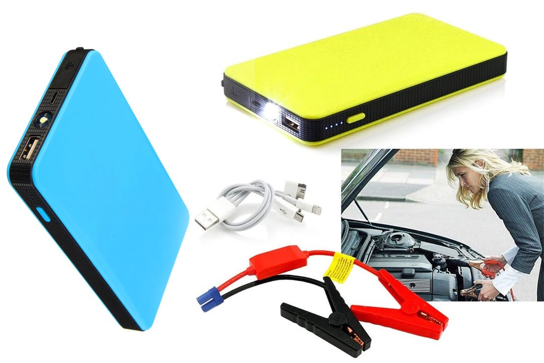 12V 20000mAh Mini Portable Multifunctional Car Jump Starter Power Booster Battery Charger Emergency Start Charger