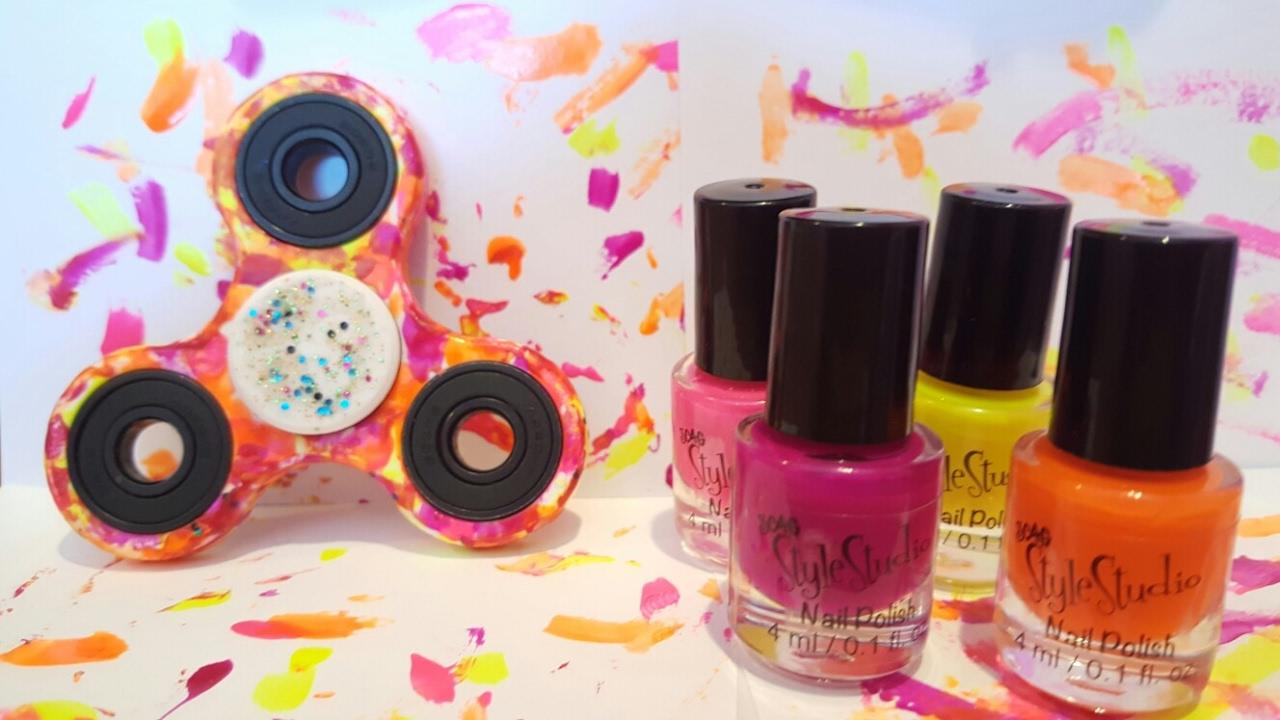 DIY Fidget Spinner Nail Polish Customization!?!?!? - YouTube
