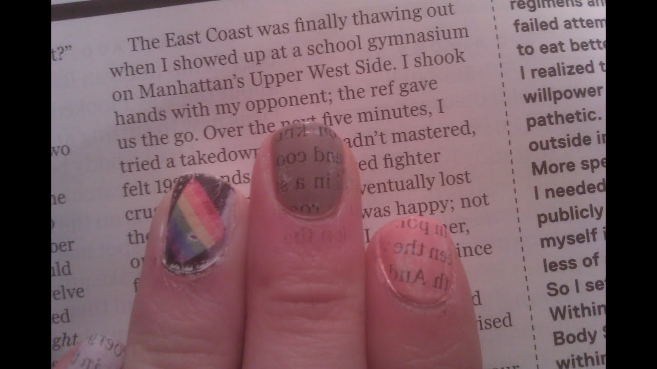 Newspaper Nails with Magazines! (with WATER!) - YouTube