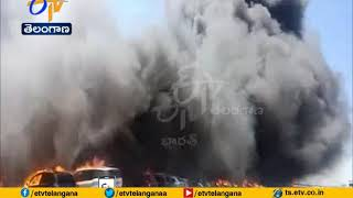 Fire Accident   at Aero India 2019 Show in Bengaluru   Many Vehicles Gutted