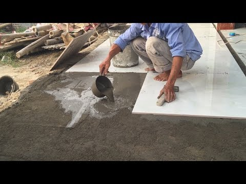 How To Buiding And Install Floor With Ceramic Tile Easy - Install Tiles Large Format 80x80 cm