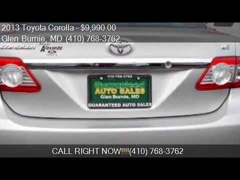 Guaranteed Auto Sales >> 2013 Toyota Corolla S 4 Speed At For Sale In Glen Burnie Md