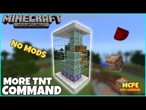 Mcpe Only Command | MORE TNT COMMAND WITH NO MODS | Mcpe Command Block Creations