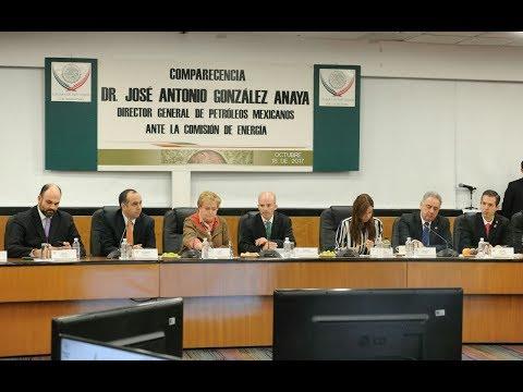 Comparecencia del Dr. José Antonio González Anaya, Director General de Pemex