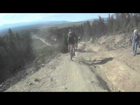 2011 Leadville 100 MTB Trail Race Powerline Descent Downhill Mountain Bike Race Across The Sky