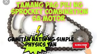 sprocket combination paano Ang tamang pagpili ?