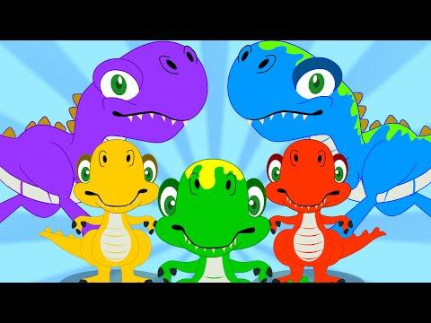 Five Little Dinosaurs | Nursery Rhyme | Dinosaur Song