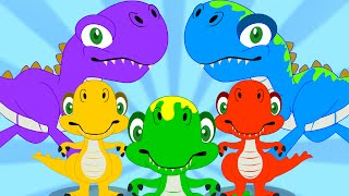 Five Little Dinosaurs | Nursery Rhyme | Dinosaur Song