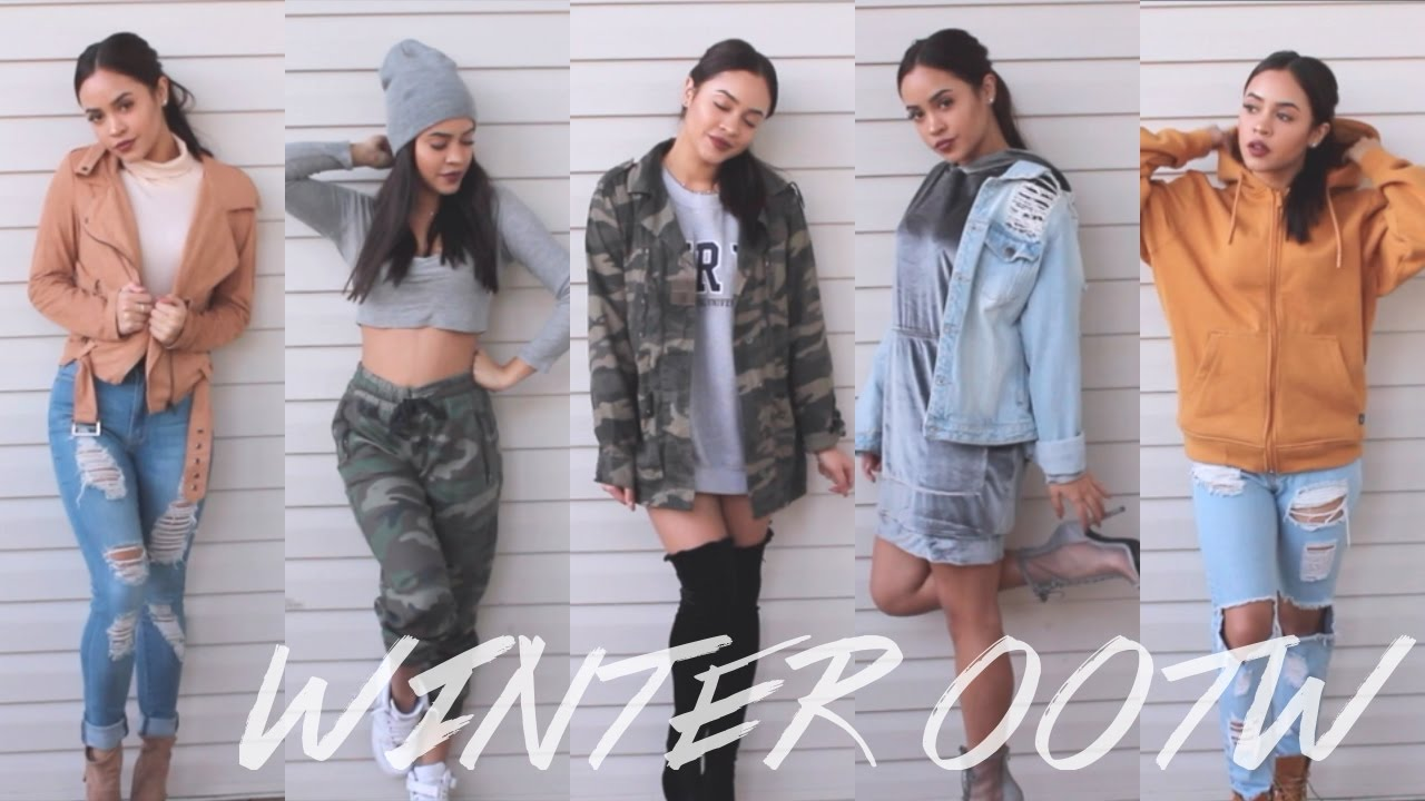 winter ootw amp outfit ideas maria bethany youtube