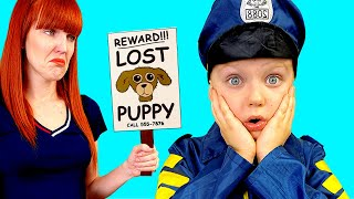 Pretend play polica - professions for kids | Martin and Monica