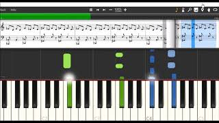 Keane - Silenced by the night - Piano Tutorial/Synthesia