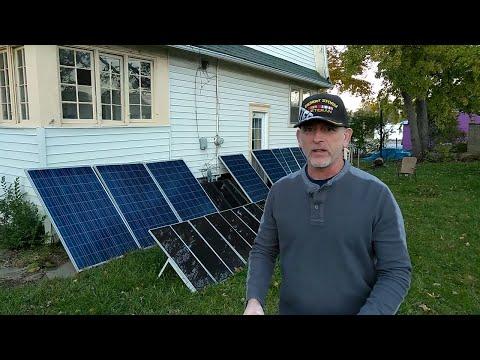 13 Solar Panels Off Grid, 5 on grid
