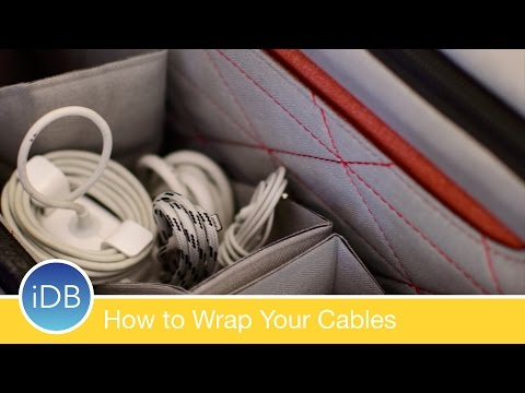 How to Properly Wrap Your Cables & Keep Your Bag Organized - Headphones, MagSafe, etc