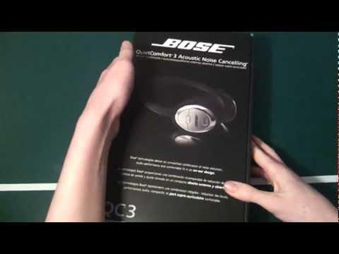 Bose QC3 headphones Unboxing (HD)