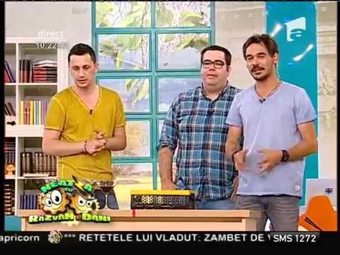 Popescu și Flick, provocarea paharelor buclucașe, la Neatza!