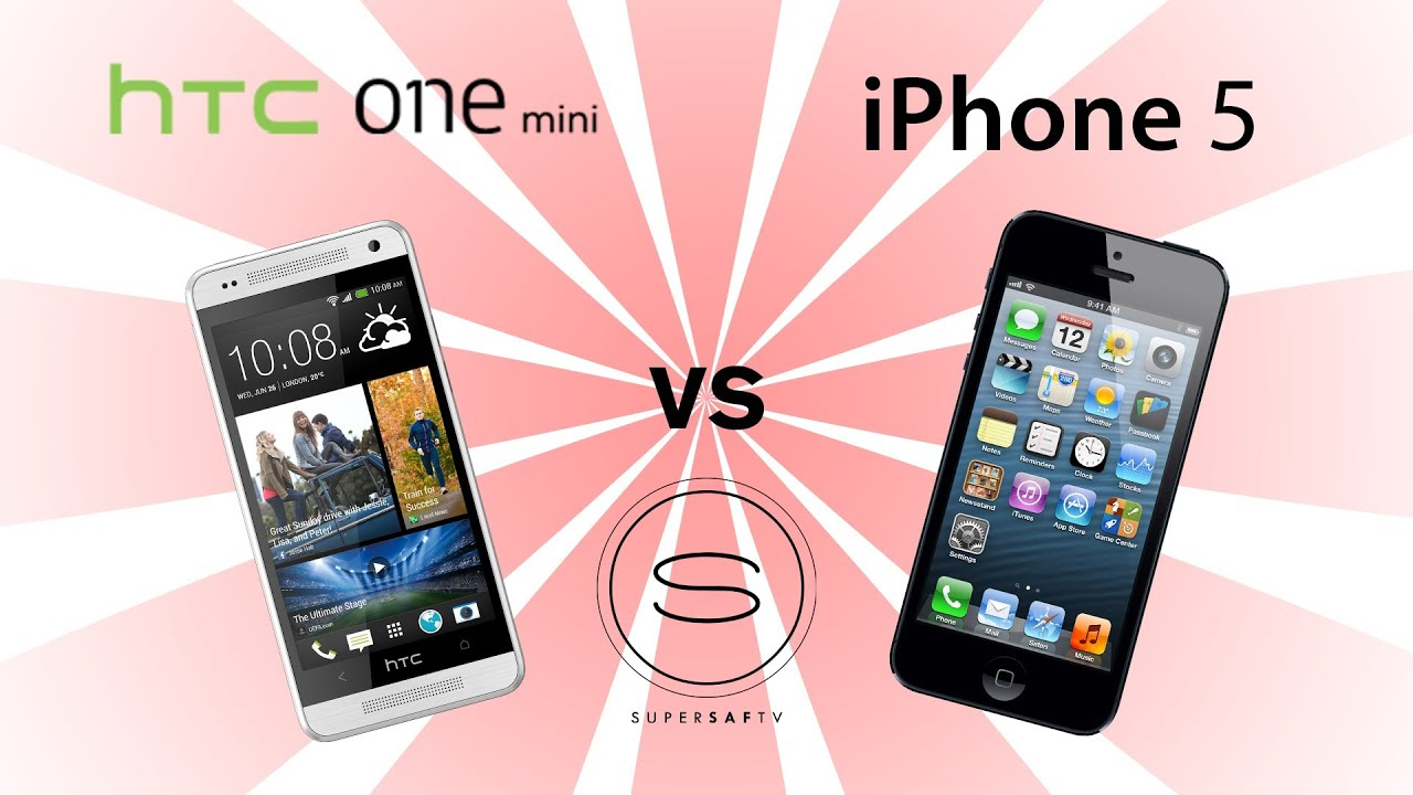 htc one mini vs iphone 5 youtube