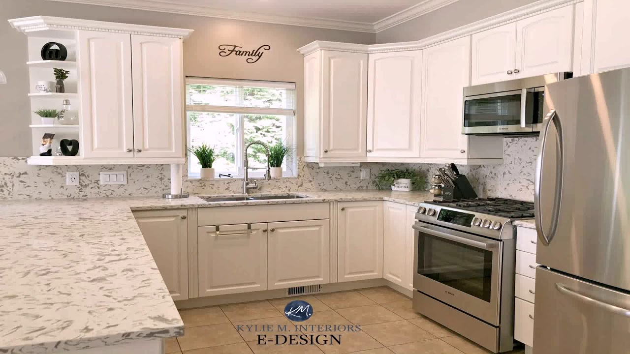 White Kitchen Cabinets With Beige Tile Floor Youtube