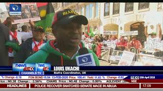 Biafra Protest: Group Protests In London, Call For Referendum