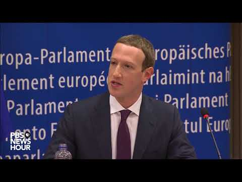 WATCH: Facebook CEO Mark Zuckerberg testifies before the European Union Parliament