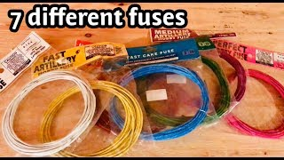 Cannon Fuse Testing for Consumer Fireworks