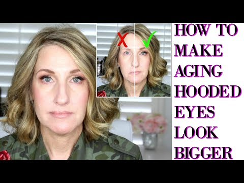 HOW TO APPLY EYESHADOW TO AGING HOODED EYES