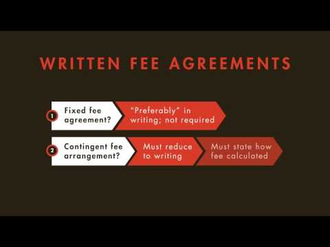 Legal Ethics Tutorial: Attorneys' Fees In The Attorney-Client Relationship | Quimbee.com