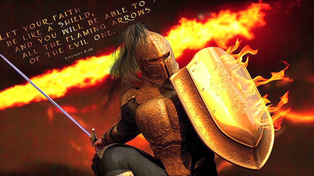 """put on the whole armor of """"put on the whole armor of god, that you may be able to stand against the wiles of the devil for we do not wrestle against flesh and blood, but against principalities, against powers, against the rulers of the darkness of this age, against spiritual hosts of wickedness in the heavenly places."""
