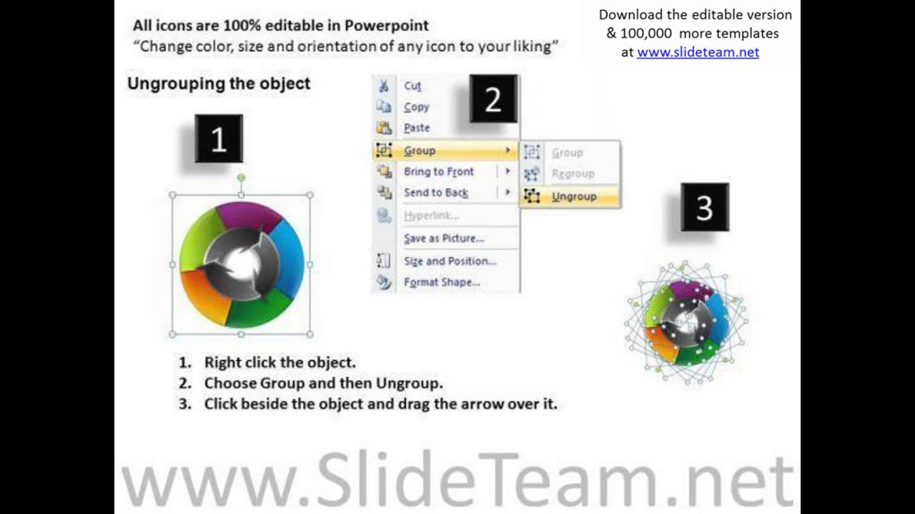circular arrows process flow chart powerpoint templates pptx - youtube, Modern powerpoint