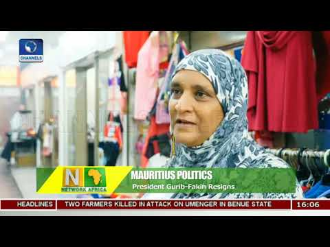 Vice President Takes Over As Mauritius Female Leader Steps Down |Network Africa|