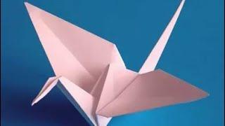 Оригами Журавлик из бумаги  / Paper shadoof - Origami