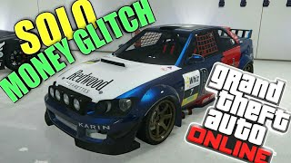 *SOLO* SUPER EASY UNLIMITED MONEY GLITCH DUPLICATION GLITCH MAKE BANK EVERY MINUTE IN GTA 5 ONLINE
