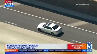 🚓  White BMW sedan vs L.A.P.D. : Driver Escapes Los Angeles Police Dept in speed chase! 3/23/18