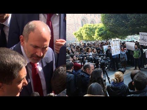 Армянские студенты восстали против министра образования и добились диалога с Пашиняном