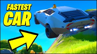 The FASTEST Car Ever in Fortnite HAS BOOST (BEST JUMPS, STUNTS & WHIPLASH LOCATION)