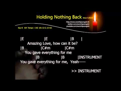 Holding Nothing Back Karaoke, backing track, cover (E key)