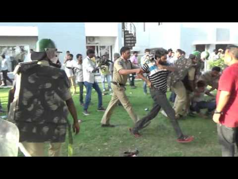 Police Brutality in University of Hyderabad
