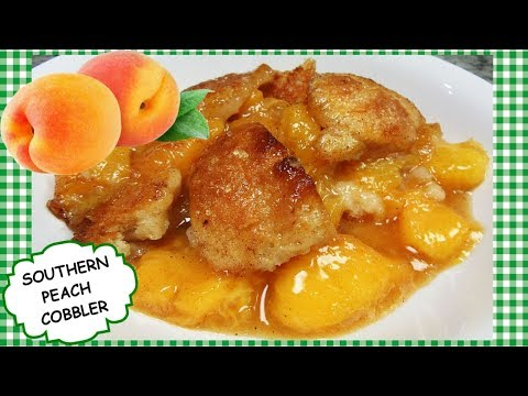 How To Make Homemade Southern PEACH COBBLER From Scratch Recipe