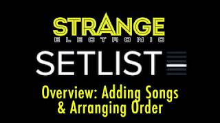 SetList by Strange Electronic: Overview