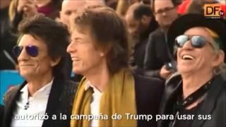 Rolling Stones prohíbe a Donald Trump usar sus canciones en campaña electoral