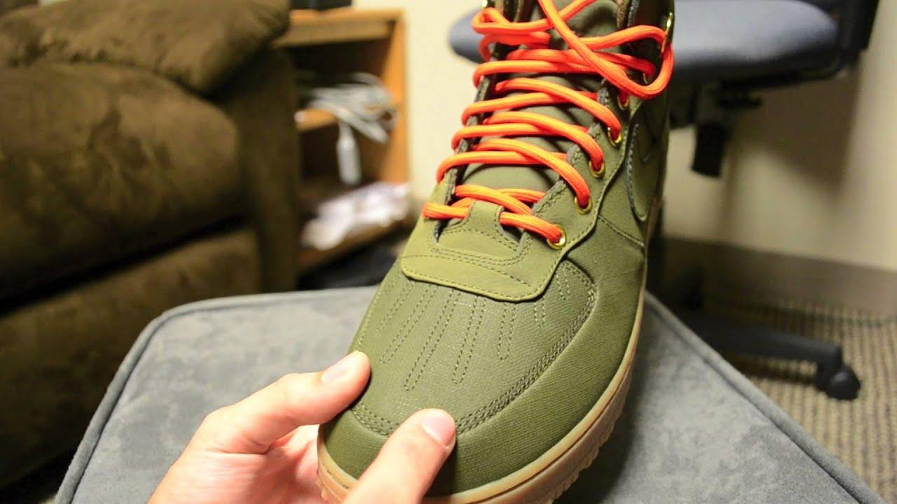 nike air force 1 duckboot green