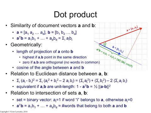 IR3.4 Dot product and Euclidean distance